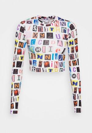 ALPHABET - Long sleeved top - multi