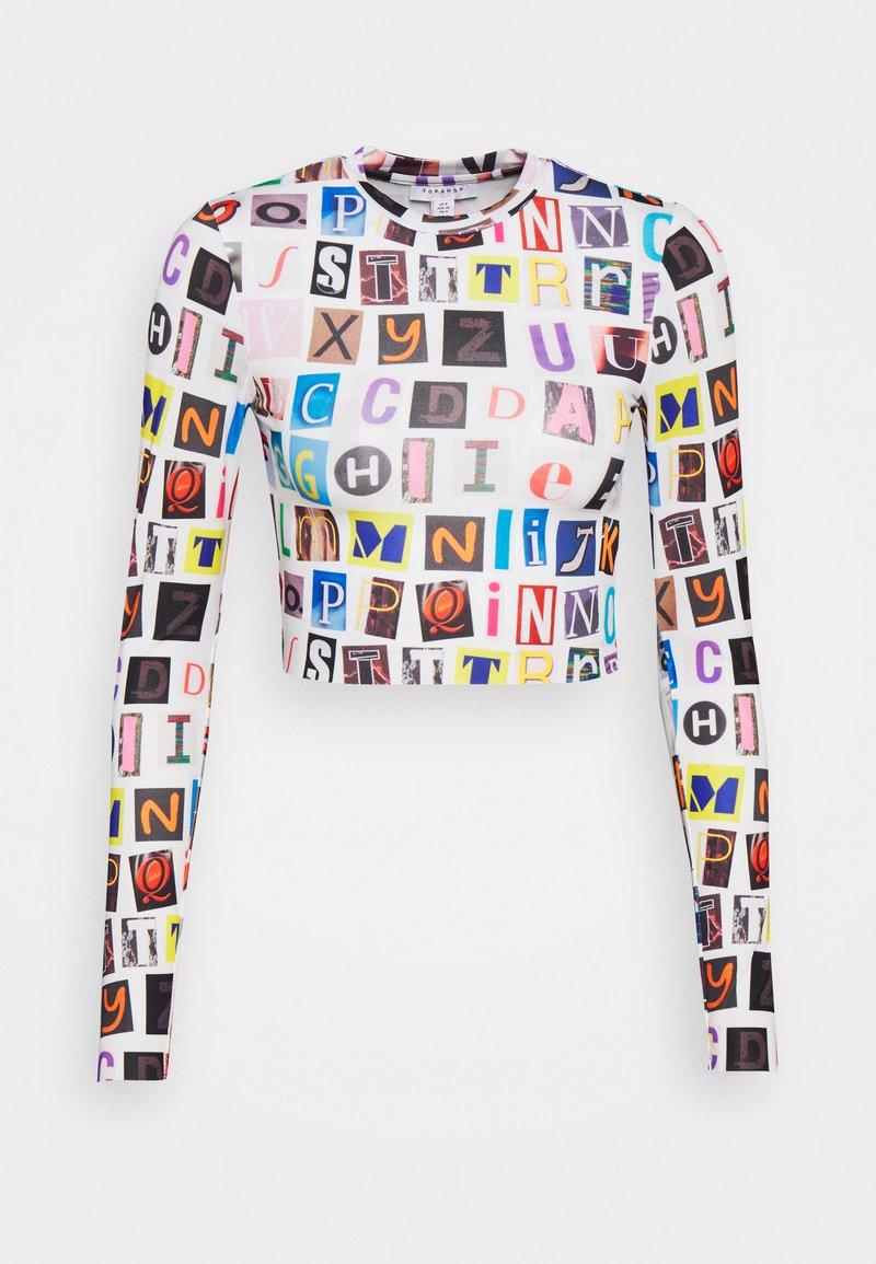 Topshop - ALPHABET - Maglietta a manica lunga - multi