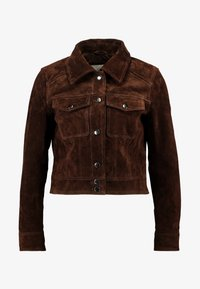 VILA PETITE - VIMUSA JACKET - Leather jacket - puce - 4
