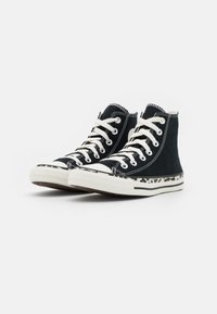 Converse - CHUCK TAYLOR ALL STAR EDGED ARCHIVE LEOPARD PRINT - Sneakers hoog - black/egret/driftwood - 2