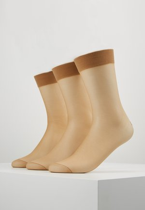 3 PACK - Strømper - light brown