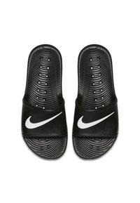 Nike Sportswear - KAWA SHOWER - Pool slides - black/white - 1