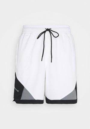 DRY AIR DIAMOND SHORT - Sports shorts - white/black/smoke grey