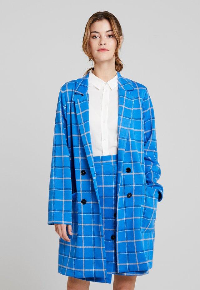 Kort kåpe / frakk - cobalt blue