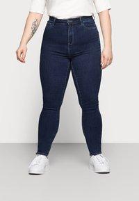 ONLY Carmakoma - CAROP LIFE SUPER - Jeans Skinny Fit - dark blue denim - 0