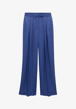 SATIN - Spodnie materiałowe - bleu marine foncé
