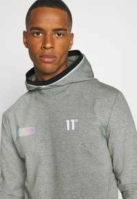 11 DEGREES - BLOCK HOODIE - Hoodie - grey marl - 3