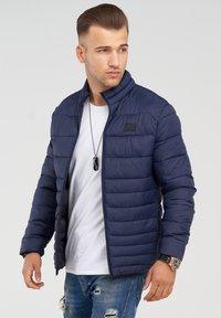Jack & Jones - MIT STEHKRAGEN - Light jacket - navy blazer - 3