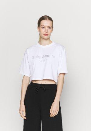 CARLA CROP  - T-shirt imprimé - white