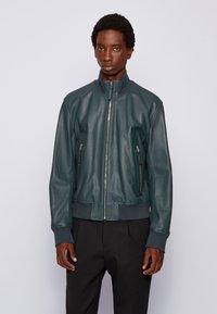 BOSS - NEOVEL - Leather jacket - light green - 0
