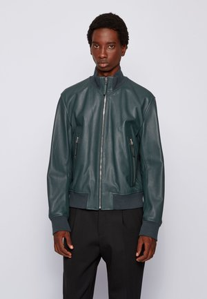 NEOVEL - Leather jacket - light green