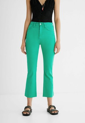 FLARED  - Flared Jeans - green
