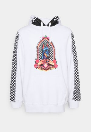 CHAIN AND CHECK  PULL ON HOOD UNISEX - Mikina - white