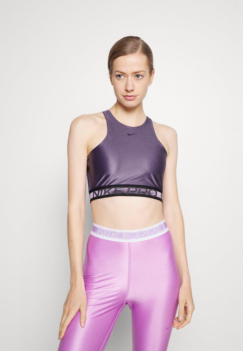 Nike Performance - TANK - Linne - dark raisin/black
