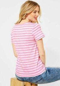 Street One - IM STREIFEN - Print T-shirt - rosa - 1