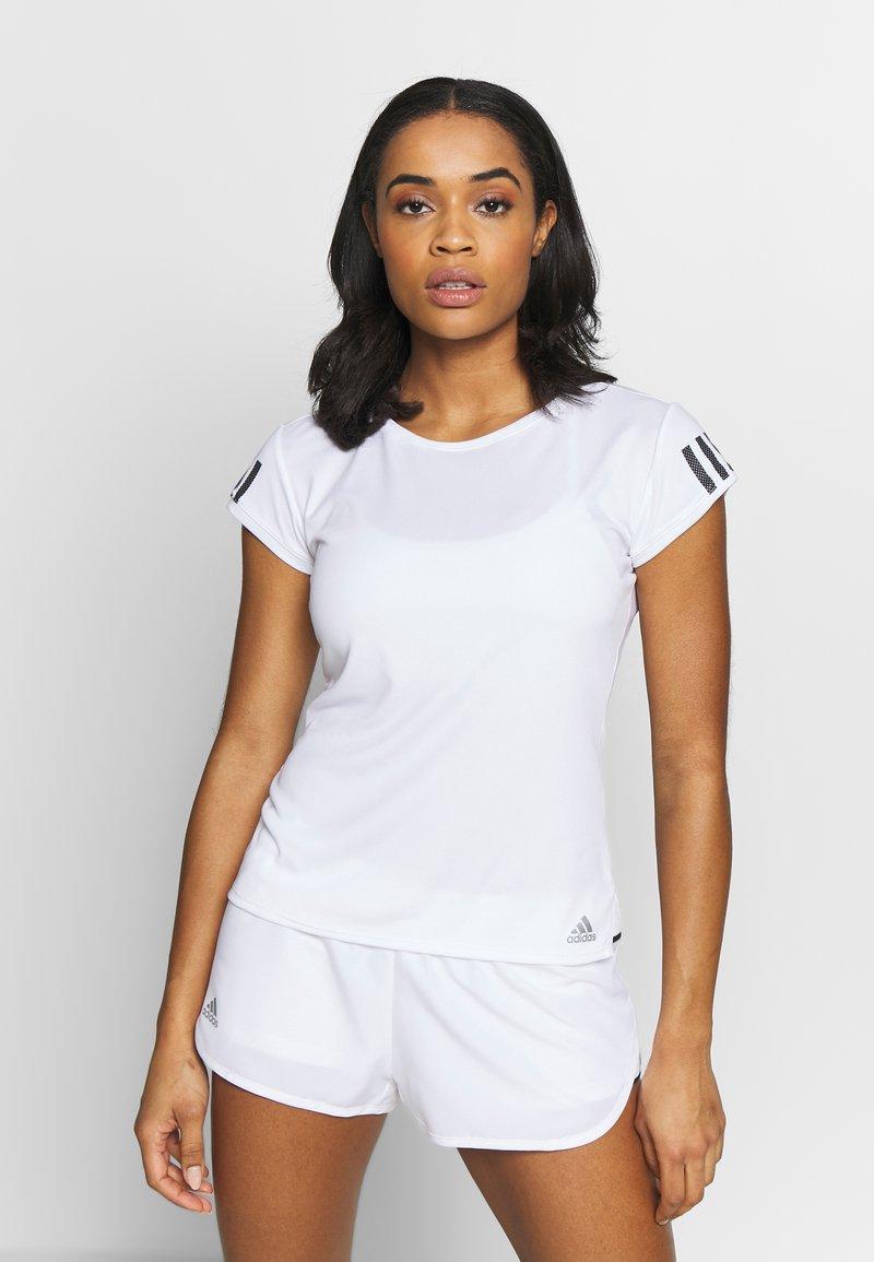 adidas Performance - CLUB TEE - Print T-shirt - white/silve/black
