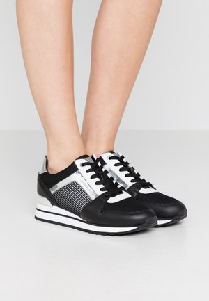 BILLIE TRAINER - Baskets basses - black/silver