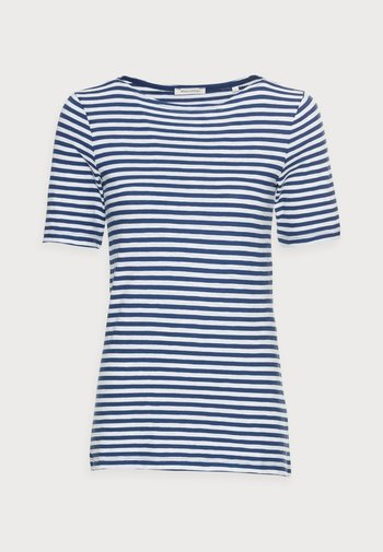 SHORT SLEEVE BOAT NECK - Print T-shirt - multi/lake blue
