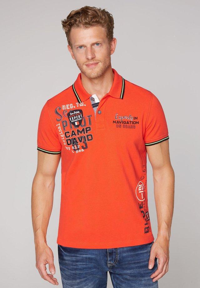Polo shirt - signal orange