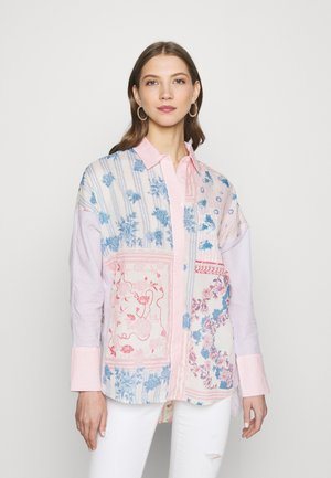 MARTINE  - Button-down blouse - lilac mix print