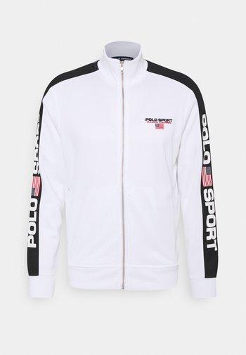 LONG SLEEVE - Zip-up hoodie - white