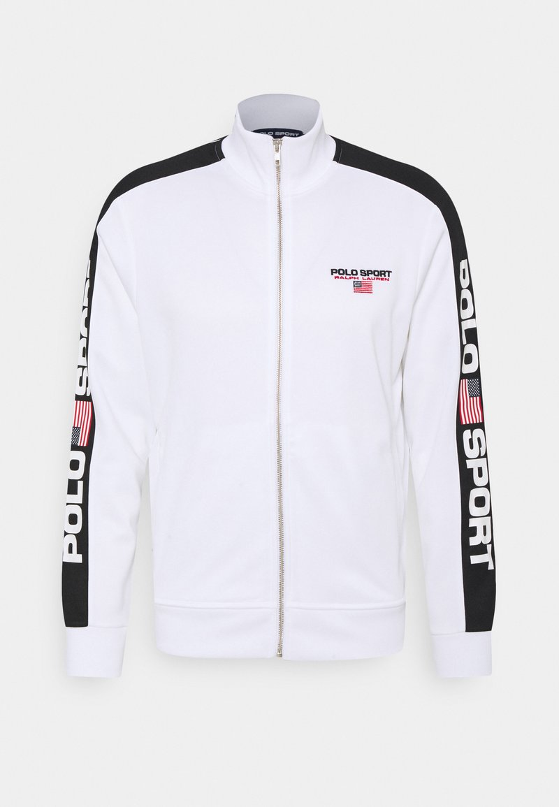 Polo Sport Ralph Lauren - LONG SLEEVE - Tröja med dragkedja - white