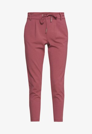 ONLPOPTRASH EASY COLOUR PANT PETIT - Trousers - dark red