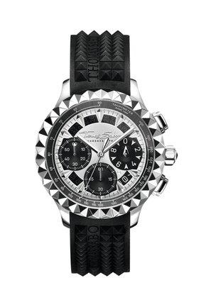 HERRENUHR KAUTSCHUK, EDELSTAHL, EDELSTAHL - Chronograph watch - schwarz
