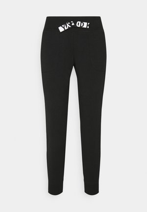 TWO TONE JOGGER - Tracksuit bottoms - black