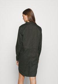 G-Star - MILARY V NECK SHIRT DRESS L\S - Day dress - raven - 2