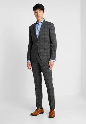 CHECKED SUIT - Kostym - dark grey