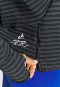 adidas Performance - Sudadera con cremallera - black - 3