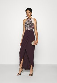 Lace & Beads - MAXI - Occasion wear - burgundy - 1