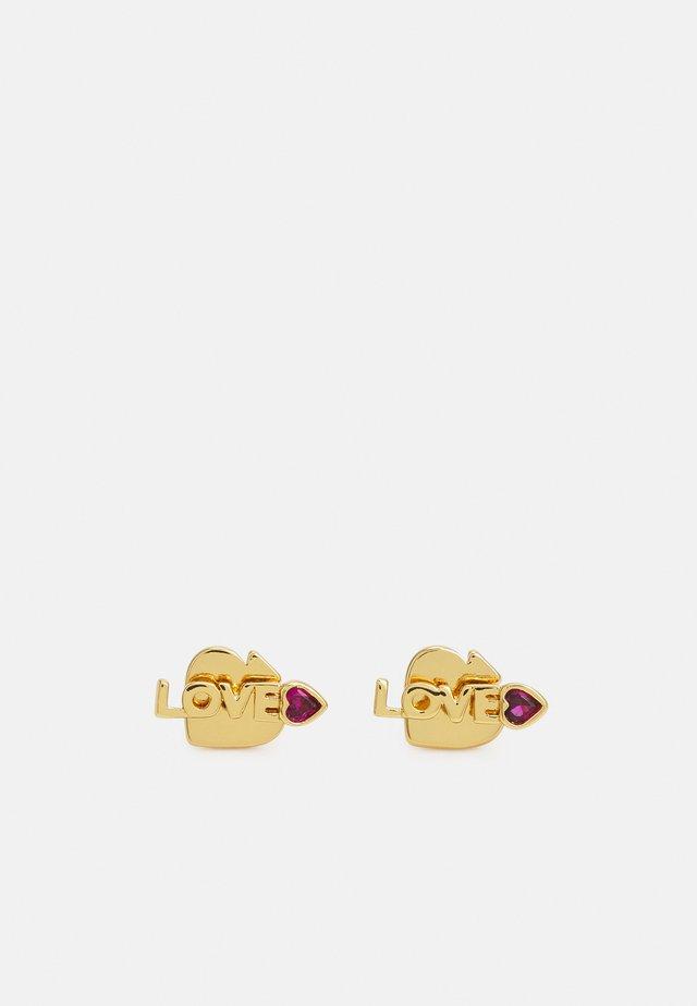 LOVE MINI STUDS - Earrings - pink