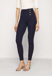 Anna Field - Punto leggings with button detail - Leggings - dark blue - 0