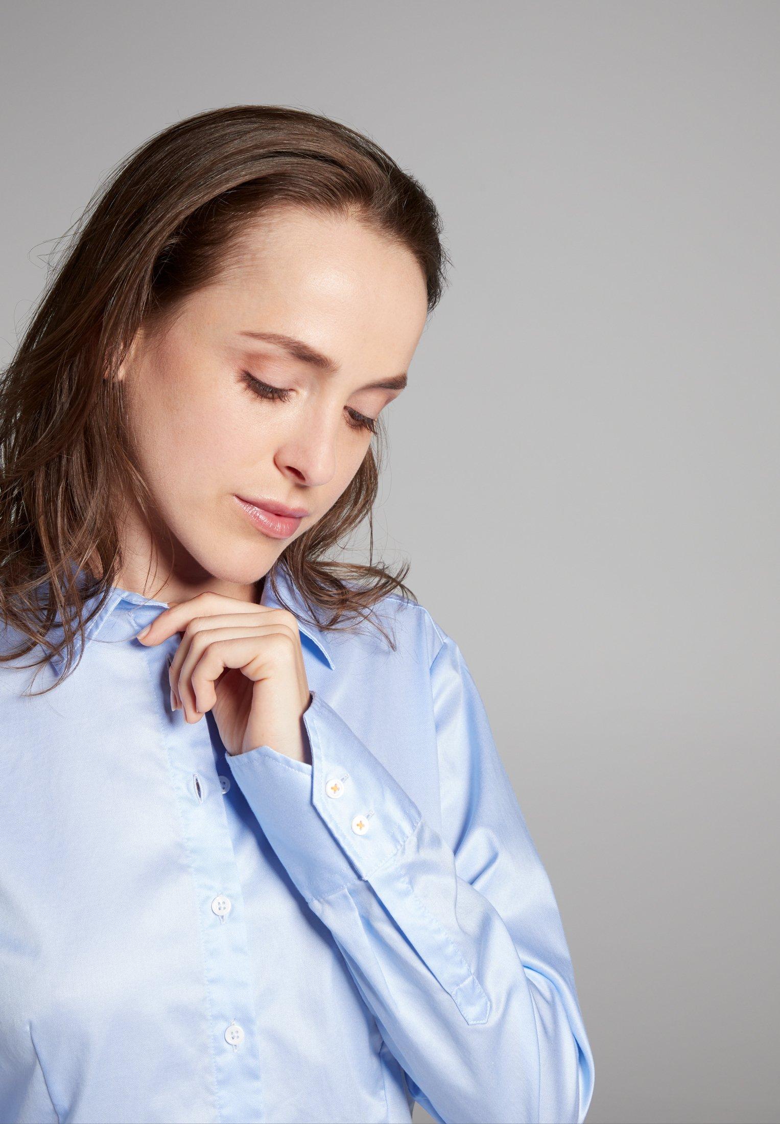 Eterna Overhemdblouse - hellblau - Dameskleding AAA-kwaliteit