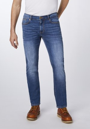 Straight leg jeans - mid stone