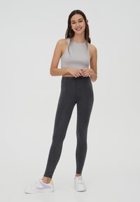 PULL&BEAR - Leggings - Trousers - dark grey - 1