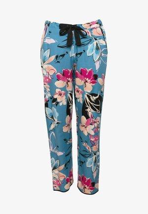 Pyjamahousut/-shortsit - turq floral