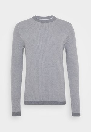 SLHBEAK CREW NECK - Jumper - medium grey melange/egret