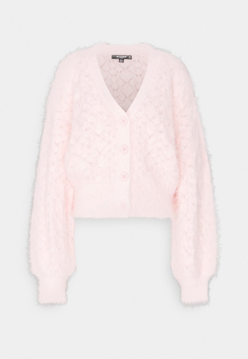 Missguided Tall - POINTELLE CARDI - Cardigan - pink