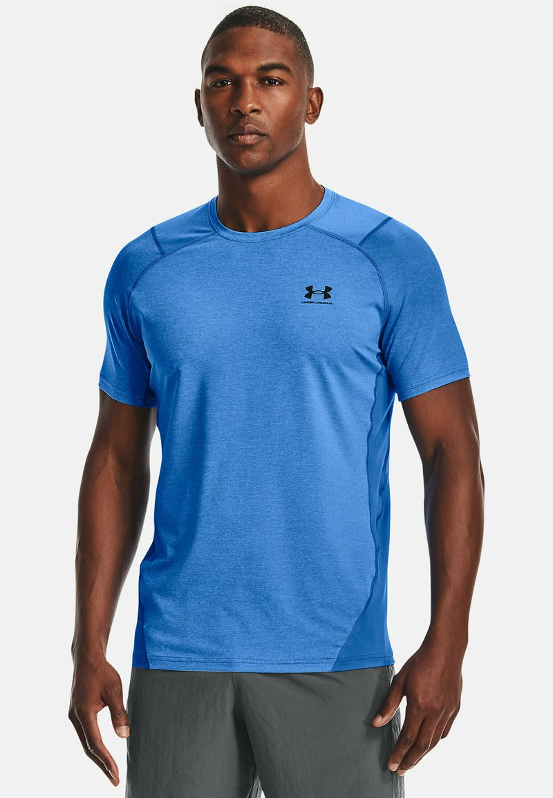 Under Armour - ARMOUR FITTED - Print T-shirt - brilliant blue light heather