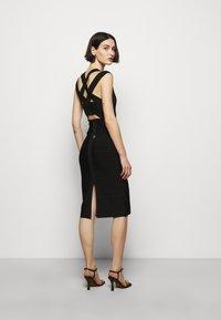 Hervé Léger - CRISS CROSS BACK DRESS - Pouzdrové šaty - black - 2