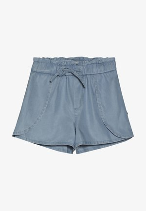 WITH WRAP OVER DETAIL - Denim shorts - sky blue
