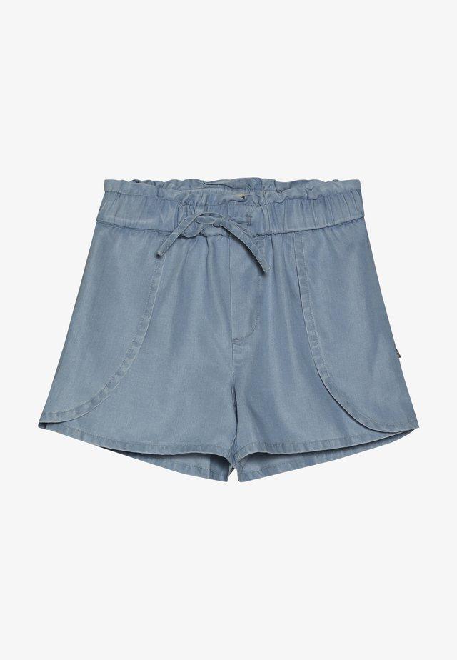 WITH WRAP OVER DETAIL - Shorts vaqueros - sky blue