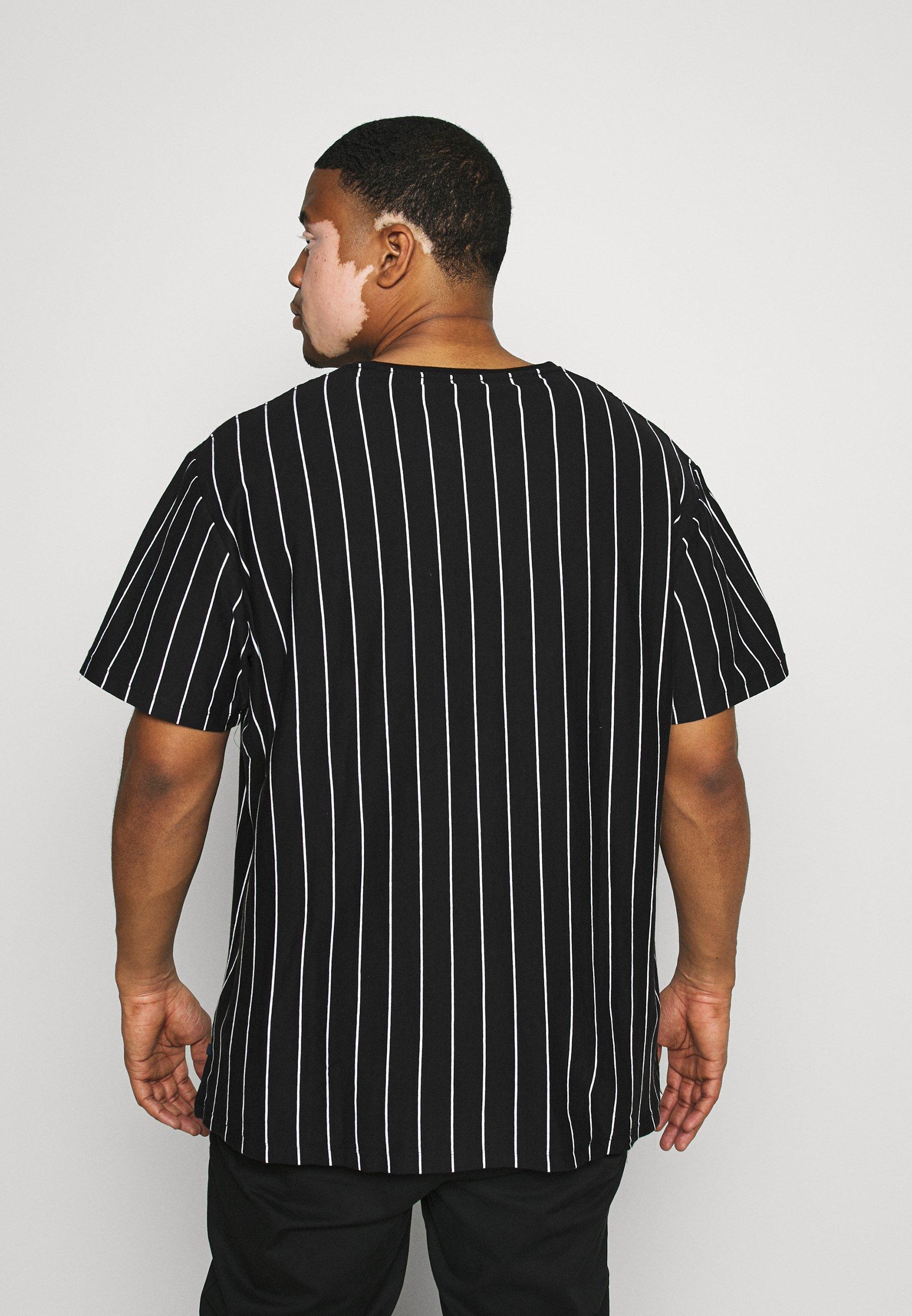Jack´s Sportswear STRIPED TEE APLICATIONS - Print T-shirt - black hHSMQ