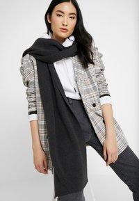 Knowledge Cotton Apparel - JUNIPER  - Scarf - dark grey - 1