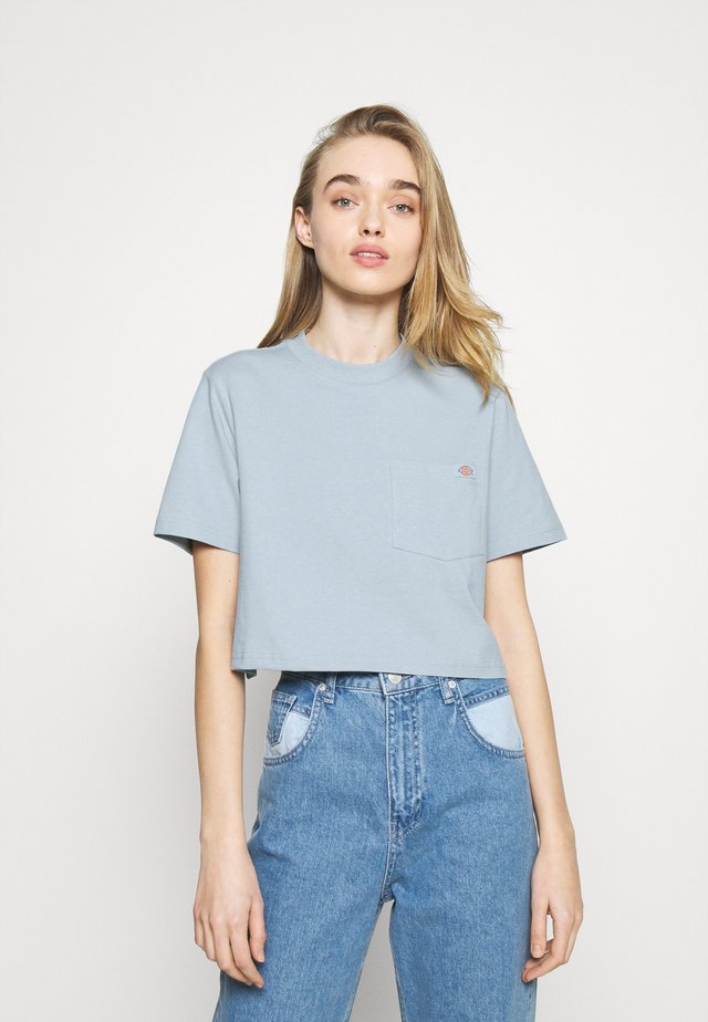 PORTERDALE CROP - T-shirt basic - fog blue