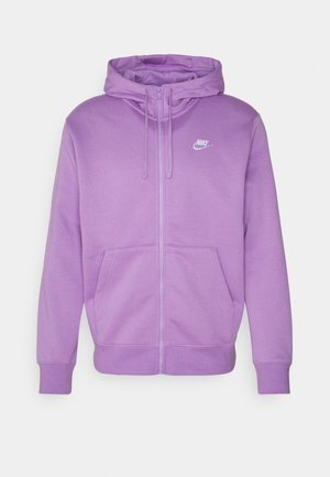 CLUB HOODIE - Sweat à capuche zippé - violet star/white