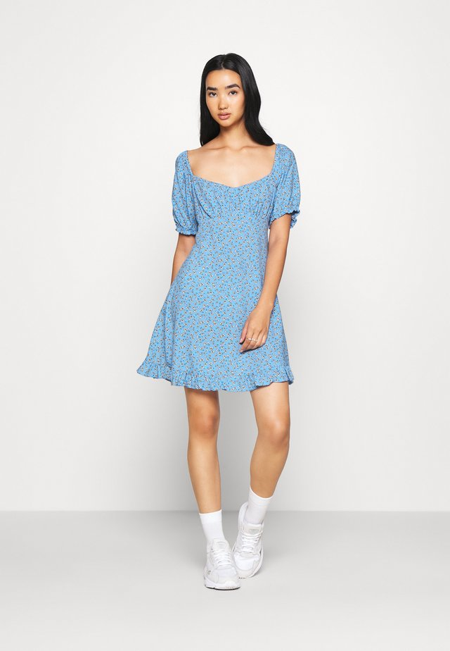 DITSY SWEETHEART DRESS - Day dress - blue